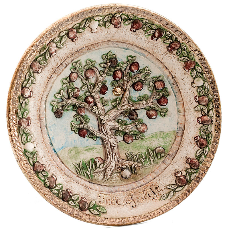 Tree of life round plate 2