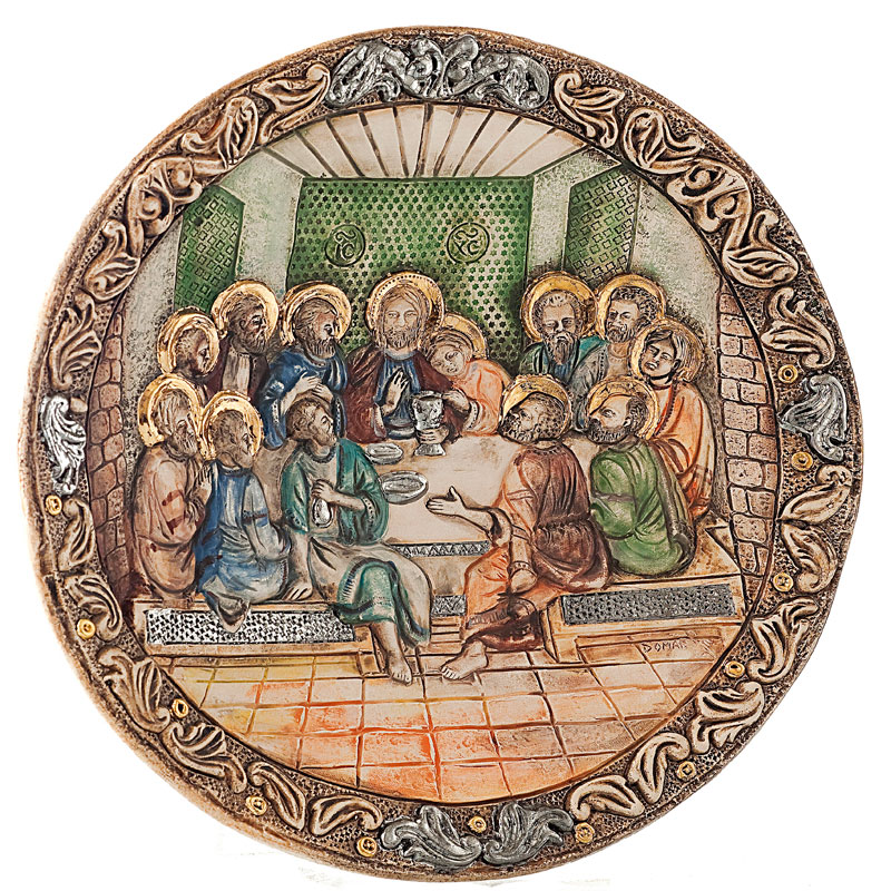 Jesus last supper plate