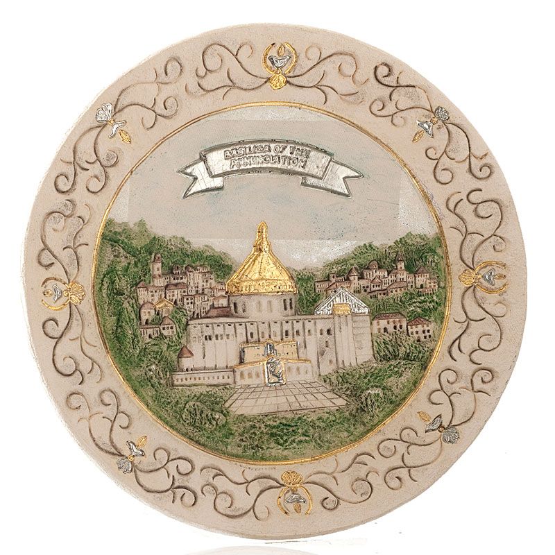 Decorated basilica of annunciation plate