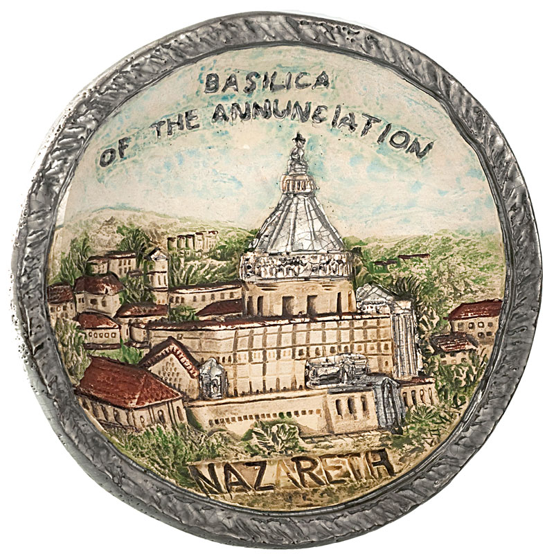 Basilica of annunciation plate
