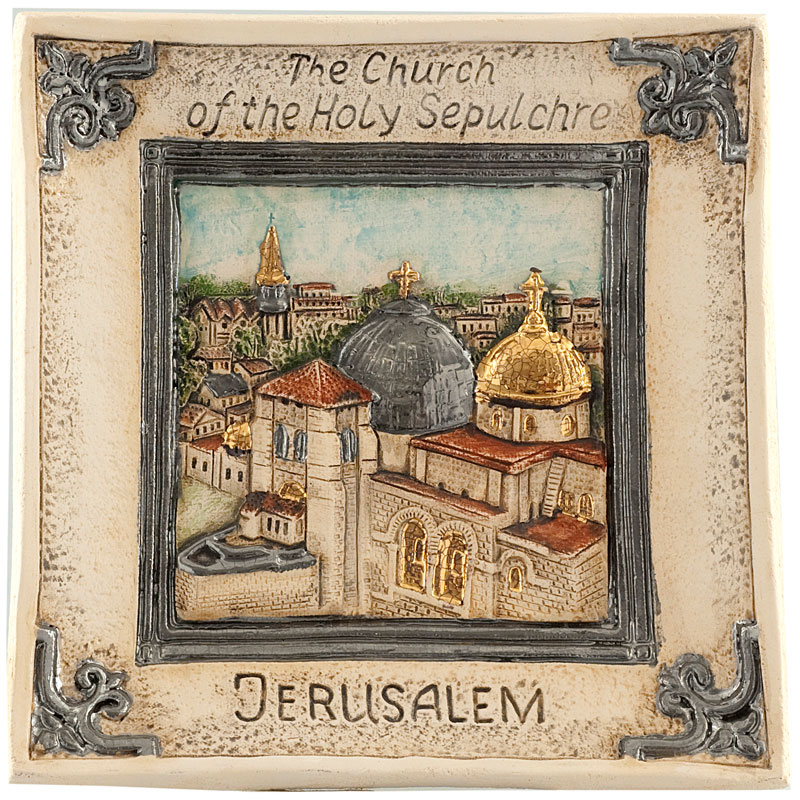 Church of holy sepulchre plate