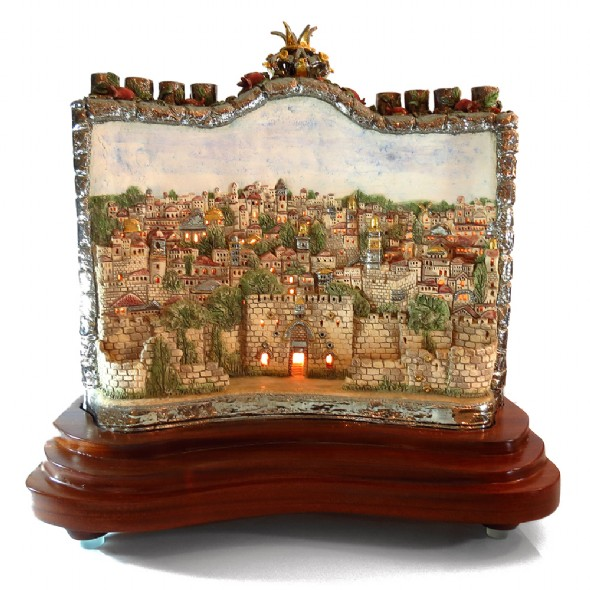 Chanukkiah lighten jerusalem