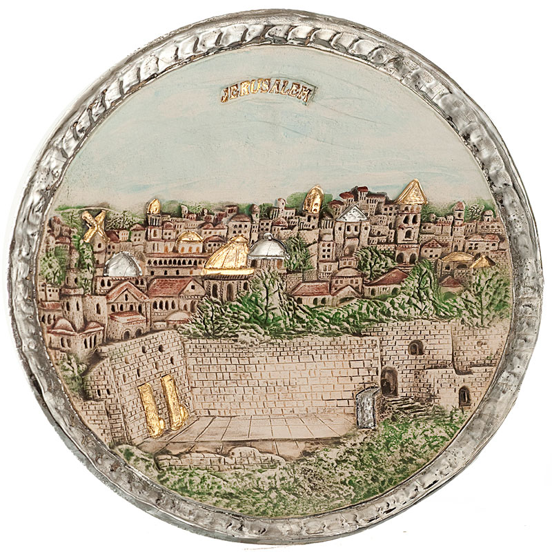 Plate with kotel motive