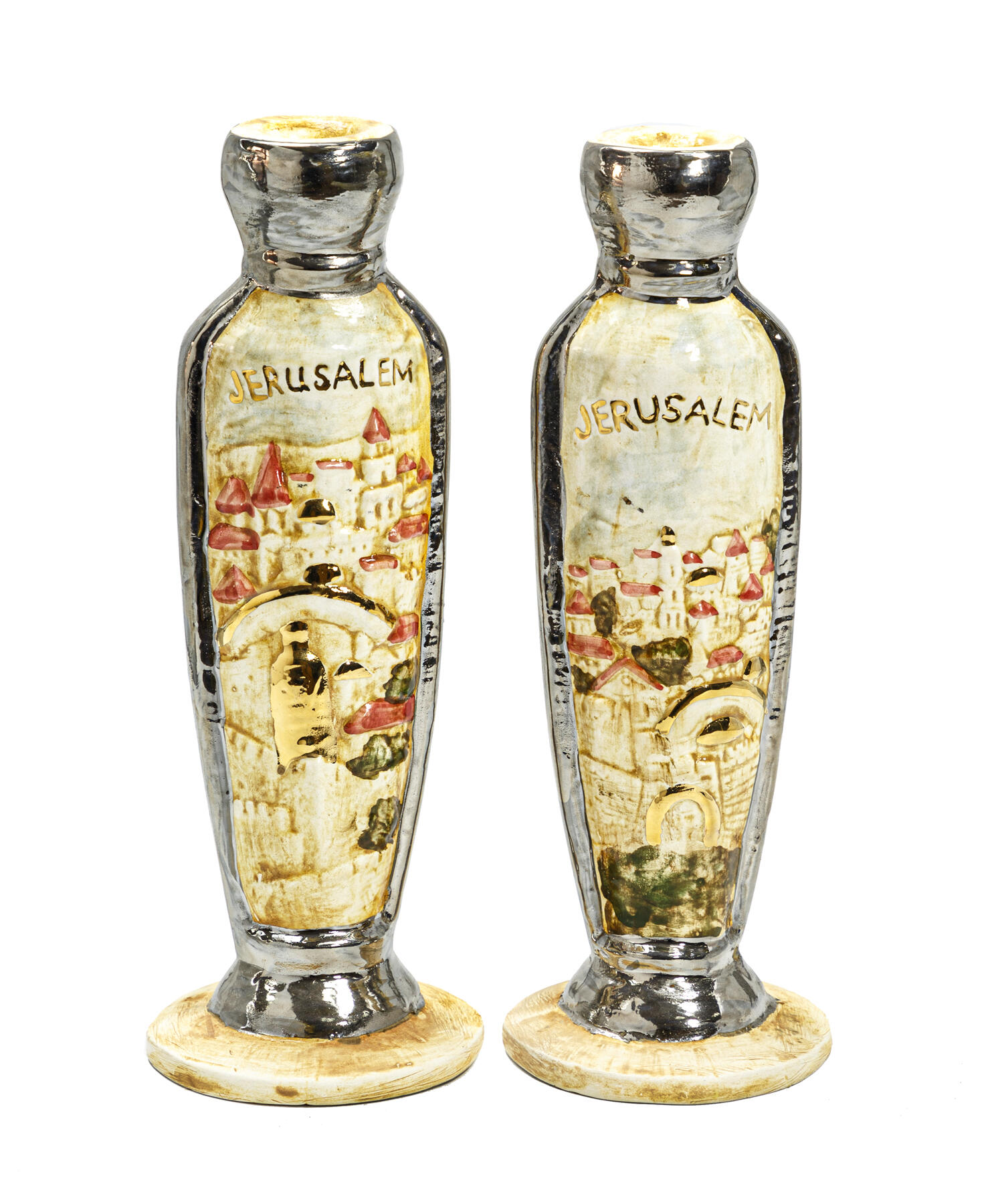 CANDLESTICKS OF JERUSALEM size: 28x10.5x10.5mm